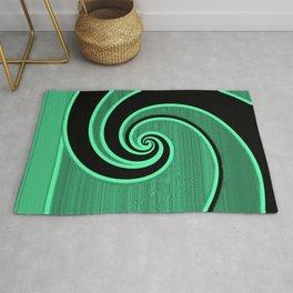 green wave Rug