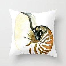 Ocean Treasures No. 3 Seashell Throw Pillow