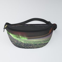 Northern Lights from Space Station over Earth Fanny Pack
