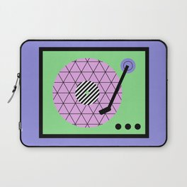 Play That Retro Geometric Vinyl Laptop Sleeve
