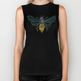 Bee & Honeycomb Biker Tank