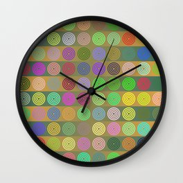 Multicolored circles Wall Clock