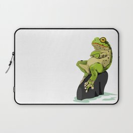 Relaxing Frog Laptop Sleeve