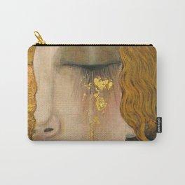 Golden Tears (Freya's Heartache) portrait painting by Gustav Klimt Carry-All Pouch