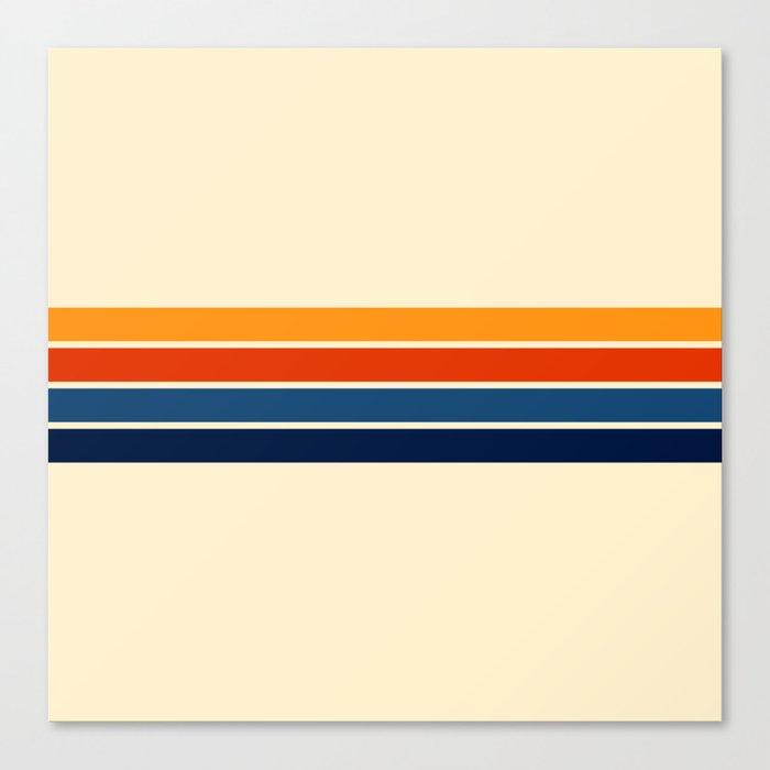Classic Retro Stripes Canvas Print