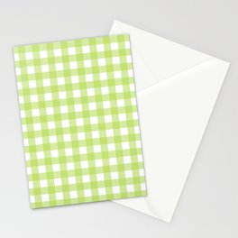 Green gingham pattern Stationery Cards