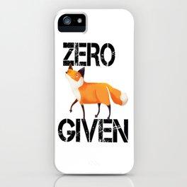 Zero Fox! iPhone Case