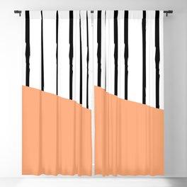Grunge black stripes Blackout Curtain
