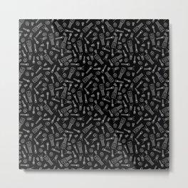 Transistors - Black on White Metal Print
