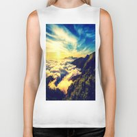 mountains Biker Tanks featuring Mountains. by 2sweet4words Designs