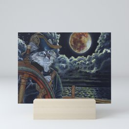 Sea Captain Cat Mini Art Print