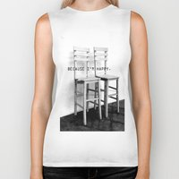 be happy Biker Tanks featuring happy by habish