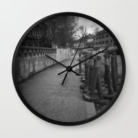 street Wall Clocks featuring Street by Predicaments
