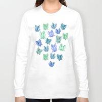 crystals Long Sleeve T-shirts featuring Crystals by Marta Olga Klara
