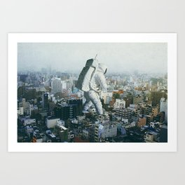Stepping On Art Print