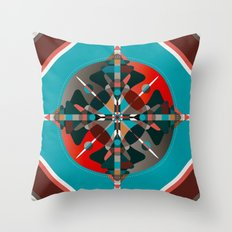 Compass, Palette 2 Throw Pillow