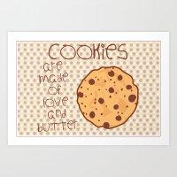 cookies Art Prints featuring Cookies by Mim sh.