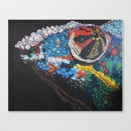 smug chameleon Canvas Print