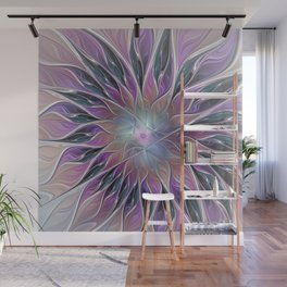 Fantasy Flower, Colorful Abstract Fractal Art Wall Mural