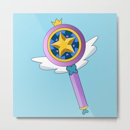 Star Butterfly's Wand Metal Print