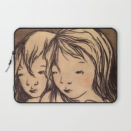 Girls caught in the wind Laptop Sleeve