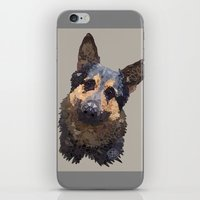 german iPhone & iPod Skins featuring German Shepherd by ArtLovePassion