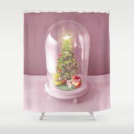 Xmas Bell Jar Shower Curtain