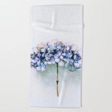 Delicate Hydrangea Beach Towel