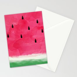 Watermelon Abstract Stationery Cards
