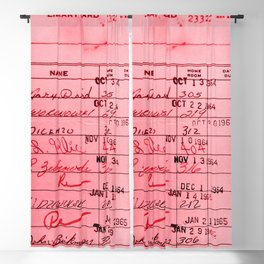 Library Card 23322 Pink Blackout Curtain