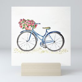 Spring bicycle Mini Art Print