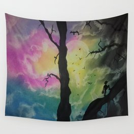 Open The Cage Wall Tapestry
