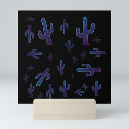 Cactus boys at night Mini Art Print