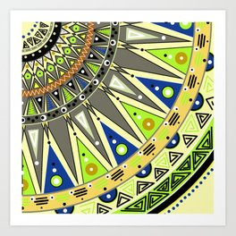 Ethnic tribal ornament 3 Art Print