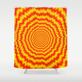 Big Bang in Red and Yellow Shower Curtain