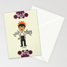 Charlie Chaplin, Modern Times, minimal movie poster Stationery Cards
