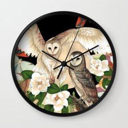 Owls + Moths Wall Clock