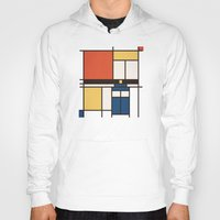 mondrian Hoodies featuring Mondrian Who by Perdita