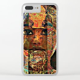 King Tut series 1 Clear iPhone Case