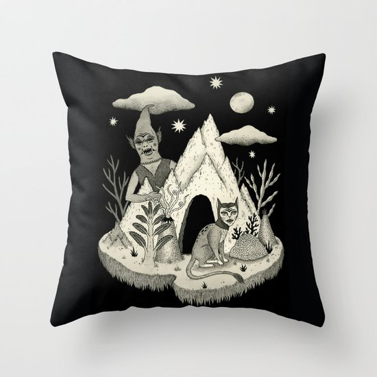 Not Alone Throw Pillow