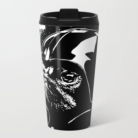 Pug Vader Metal Travel Mug