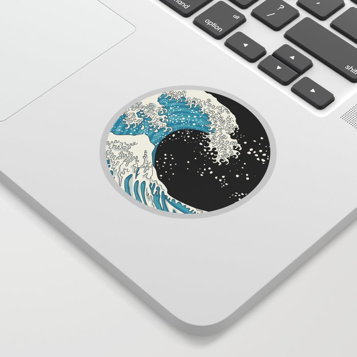 The Great Wave (night version) Sticker