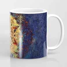Star Shine in Gold and Blue Coffee Mug