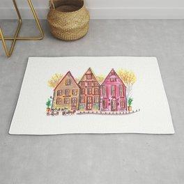 Coloured houses II Rug