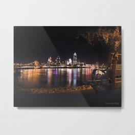 Cincinnati Glow Metal Print