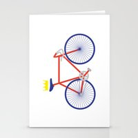 bike Stationery Cards featuring Bike by Keep It Simple