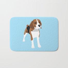 Beagle - Blue Bath Mat