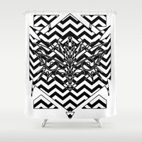 lynch Shower Curtains featuring Lynch by Gabriele Cuscino