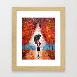 """""""Red Rain"""" Framed Art Print"""