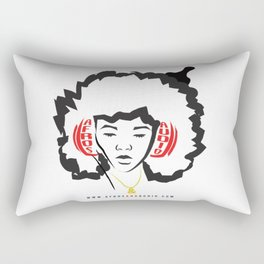 Afros & Audio Official Logo v2 Rectangular Pillow
